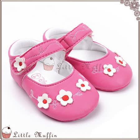 朵朵小花桃紅娃娃鞋 止滑軟底學步鞋 SMI349