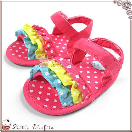 蛋糕彩紅涼鞋 止滑軟底學步鞋 SMI350