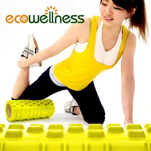 【ecowellness】環保EVA顆粒瑜珈滾輪C010-026 中空瑜珈柱指壓瑜珈棒.按摩滾輪滾筒FOAM ROLLER高雄 大 远 百.