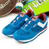【PONY】女--繽紛韓風復古慢跑鞋 SOLA--V 世足賽紀念款--日本--藍白--42W1SO12RB