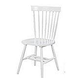 002-2 V型白色餐椅