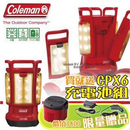 【美國 Coleman】CPX6 四合一LED營燈.可拆式手提燈/ 紅 CM-3183