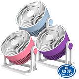 【佳醫】馬卡龍多彩六吋大風量迷你扇 HF-0601 (粉紅/粉紫/粉藍)