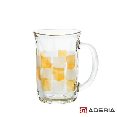 ~ADERIA~ 格紋啤酒馬克杯310ml^(琥珀^)