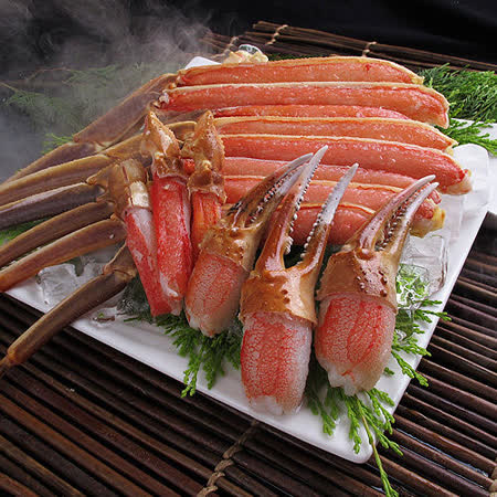 ★日本松葉蟹足豪華拼盤(1kg)★日本暢銷第一!超大隻蟹足、超大滿足、口感扎實飽滿, 豪華拼盤滿滿超乎想像