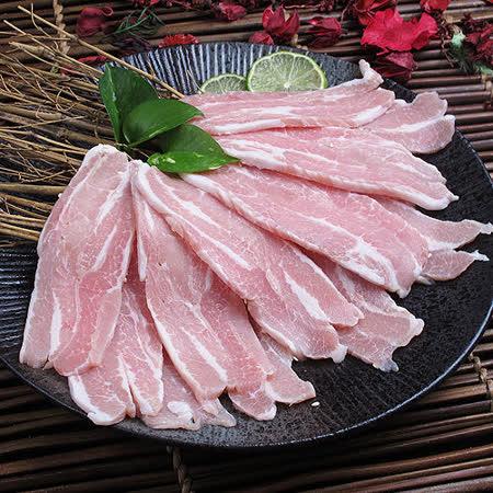 ★霜降豬肉燒烤片(300g±5%)★嚴選厚切,合格認證!肉厚鮮嫩極旨,烤肉必備絕品~