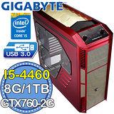 技嘉H97平台【麟甲狂戰】Intel第四代i5四核 GTX760-2G獨顯 1TB燒錄電腦