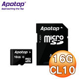 Apotop 萬國 16G MicroSDHC(CL10) 記憶卡 - 附轉卡