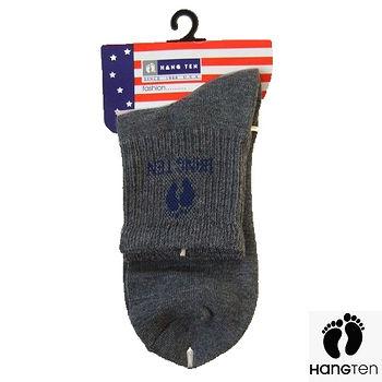HANG TEN 1/2氣墊運動襪-灰(22~24cm)