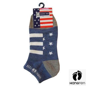 HANG TEN星星竹碳船襪 藍(22~24cm)
