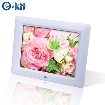 逸奇e-Kit  8吋雪櫻花數位相框電子相冊 DF-F023 (白/粉紅)