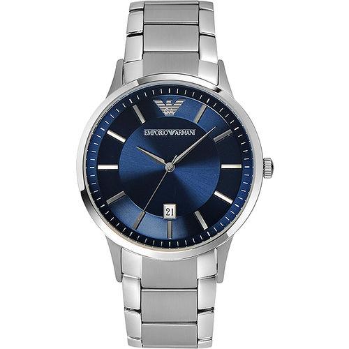 ARMANI Classic 都會時尚石英腕錶-藍 AR2477
