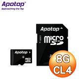 Apotop 萬國 8G MicroSDHC(CL4) 記憶卡 - 附轉卡