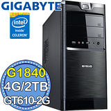 技嘉H81平台【風靈騎兵II】Intel第四代G系列雙核 GT610-2G獨顯 2TB燒錄電腦