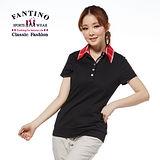 【FANTINO】女裝 格紋領休閒上衣(黑.丈青)171303-171304