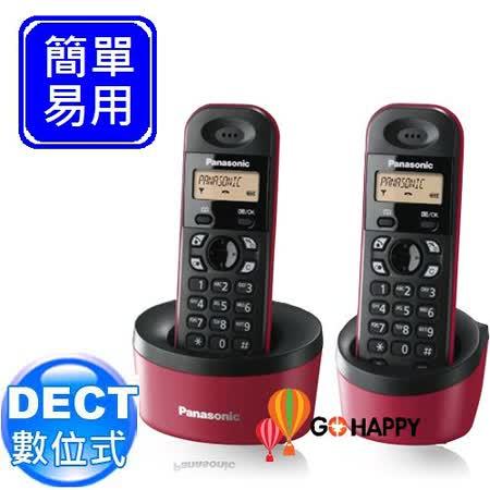 Panasonic DECT數位式無線電話 KX-TG1312 (福氣紅)
