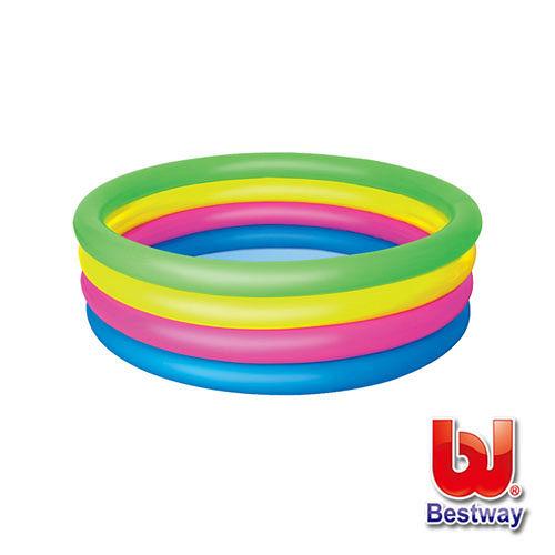 《購犀利》【Bestway】彩虹四環充氣水池直徑157cm