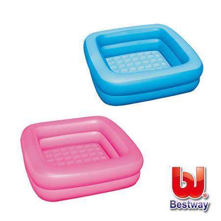 《購犀利》美國品牌【Bestway】寶寶方型充氣浴盆-藍、粉紅
