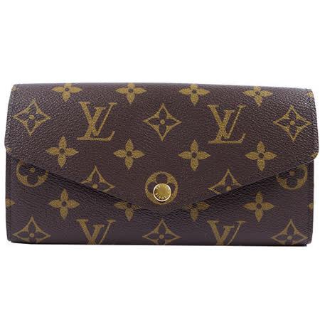 Louis Vuitton LV M60531 新版熱銷款經典花紋扣式長夾_現貨