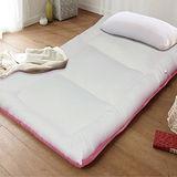 KOTAS-酷涼 涼感竹炭雙人床墊+Ice涼感紗枕 二件組-粉
