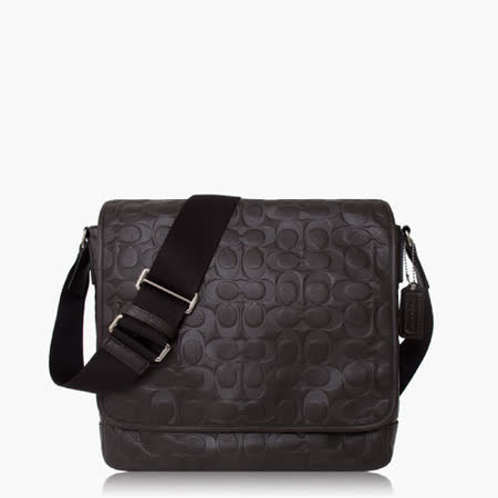 COACH Men's Bags 標誌壓印造型斜背包_深咖色