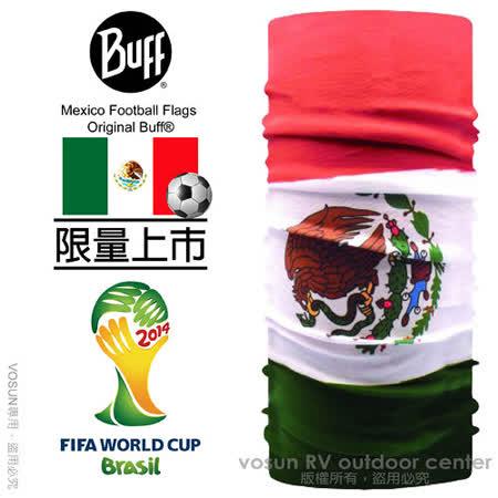 【西班牙 BUFF】世足賽系列限量 Mexico 墨西哥阿茲特克雄鷹 萬用魔術頭巾.超彈性.圍巾/ BF108745