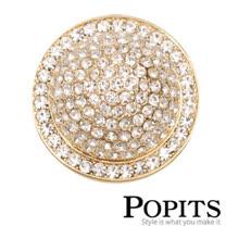 美國POPITS活動水晶扣飾-小金幣