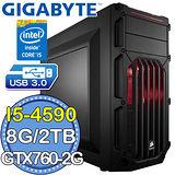 技嘉Z97平台【山嵐鬥神】Intel第四代i5四核 GTX770OC-4GD獨顯 2TB燒錄電腦