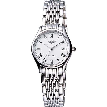 LONGINES Lyre 琴韻 羅馬美人機械腕錶-白 L43604116