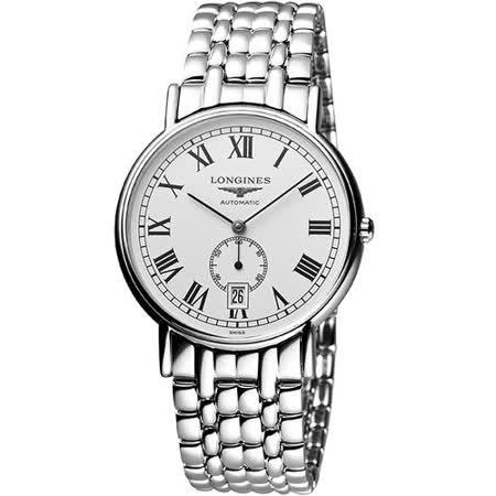 LONGINES Presence 經典小秒針機械腕錶-銀 L48054116