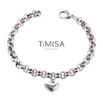【TiMISA】真心風之戀 純鈦手鍊(M)