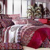【花時絮】雙人純棉四件式涼被床包組