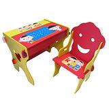 kikimmy 小博士畫板成長學習書桌椅組-微笑紅