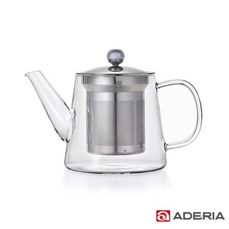 【ADERIA】日本進口LAVIA系列耐熱花茶壺500ml(附不鏽鋼濾杯)