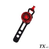 【特林TX】輕便扣環式腳踏車尾燈-紅4入組(BI-4)