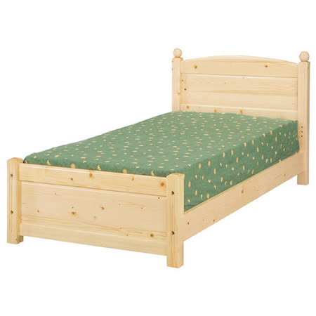 Bernice - 松木單人床 - 實木床板