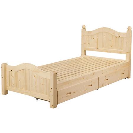 Bernice - 松木抽屜單人床 - 實木床板