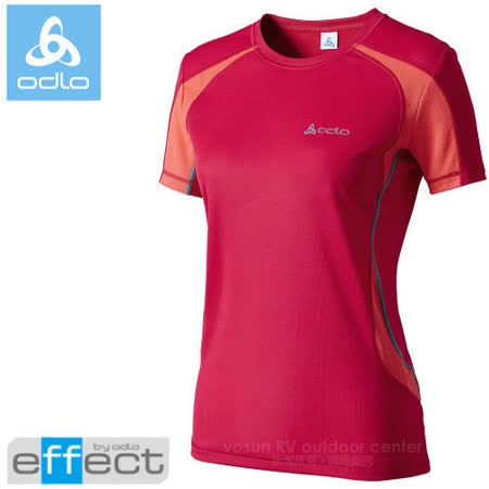 【瑞士 ODLO】女新款 銀離子圓領短袖T恤.吸濕排汗衣.運動上衣/ 346571 紅/中橘