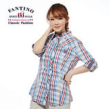 【FANTINO】春夏新品*OL上班族最愛最好搭純棉襯衫(彩條) 374109