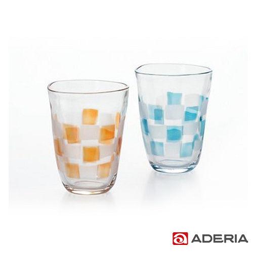~ADERIA~ 啤酒 格紋玻璃對杯290ml