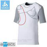 【瑞士 ODLO】男新款 銀離子圓領抗UV短袖T恤.吸濕排汗衣.運動上衣/ 347142 白/中灰