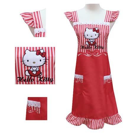 Hello Kitty紅色緞帶圍裙KT-0412A