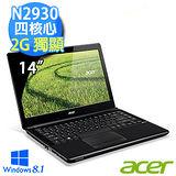 Acer E1-410G-29304G50Mnkk01 14吋 N2930四核心 Win8.1 超值獨顯效能筆電 黑