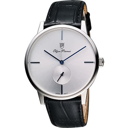 Olympianus 奧柏 光輝時刻小秒針腕錶-銀 130-13MS