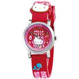 Hello Kitty 糖果屋俏麗腕錶-紅