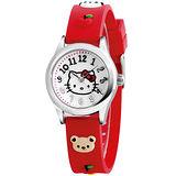 Hello Kitty 蘋果樂園俏皮腕錶-紅