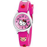 Hello Kitty 蘋果樂園俏皮腕錶-桃紅