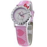 Hello Kitty 愛戀訊息晶鑽腕錶-粉紅