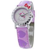 Hello Kitty 愛戀訊息晶鑽腕錶-紫