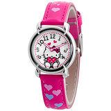 Hello Kitty 愛的祝福俏麗腕錶-桃紅